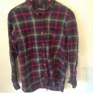 🌼SALE🌼 Men's Chaps Red & Green Plaid Flannel